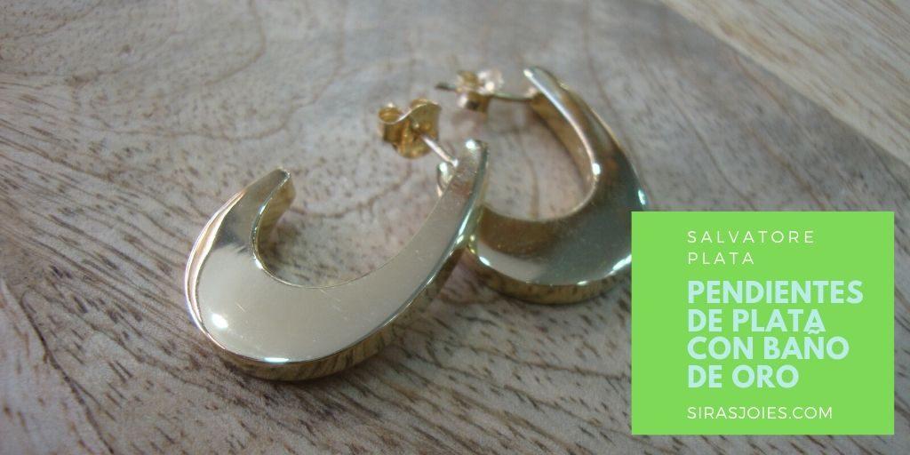 Pendientes de plata con baño de oro